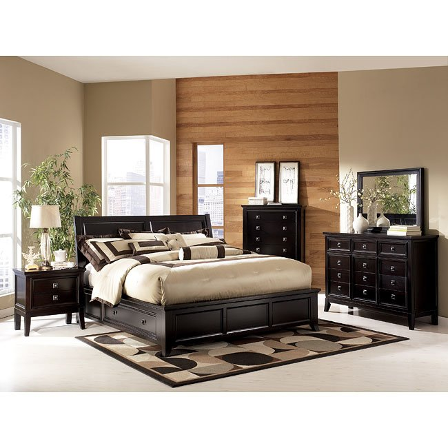 Martini suite storage platform bedroom set millennium furniturepick for Ashley furniture bedroom suites