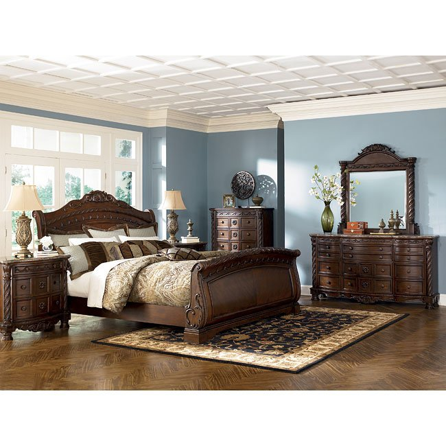 North Shore Sleigh Bedroom Set From Ashley B553: North Shore Sleigh Bedroom Set Millennium