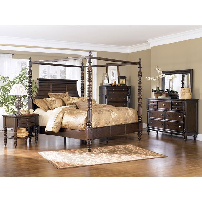 Key town canopy bedroom set millennium furniturepick - Key town bedroom set ...