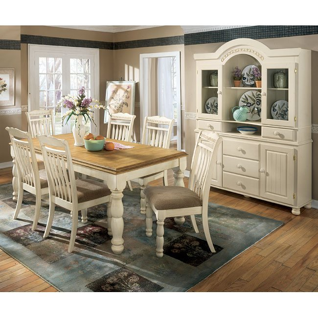Cottage retreat extension dining room set signature design by ashley furniture furniturepick Cottage retreat collection bedroom furniture