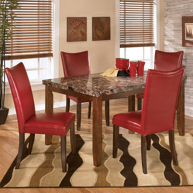 lacey dining room set with charrell red chairs signature design by