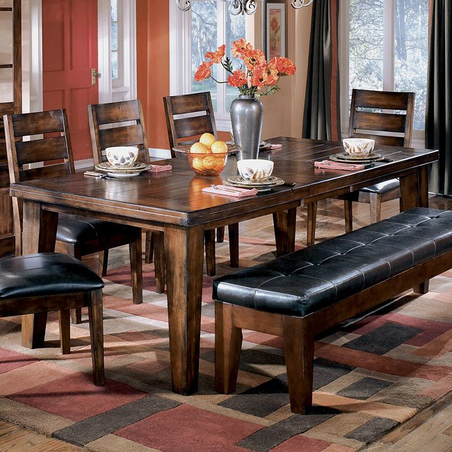 Larchmont Rectangular Extension Table Signature Design By Ashley Furniture