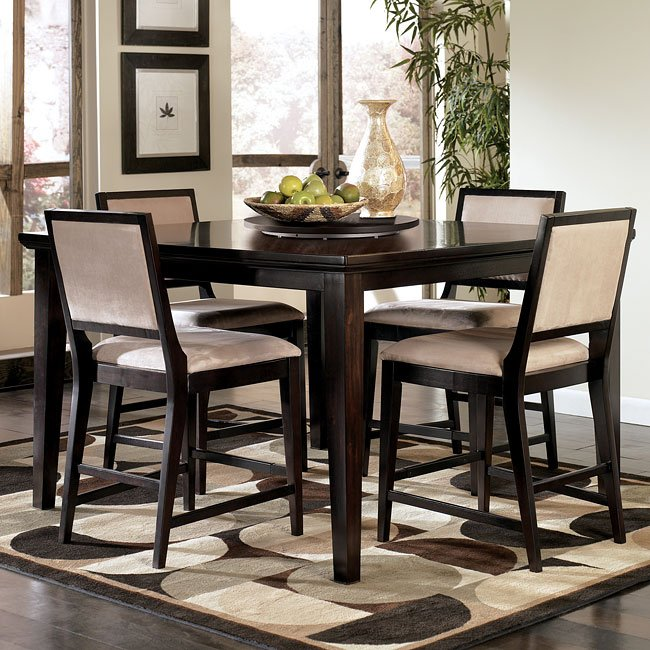 Counter Height Table Ashley Furniture : Suite Counter Height Table w/ Lazy Susan Signature Design by Ashley ...
