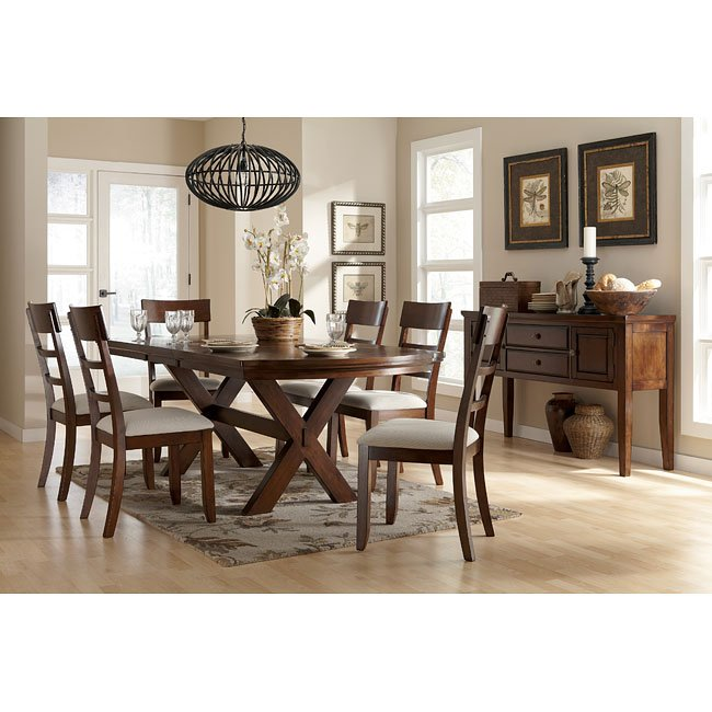 Burkesville Dining Room Set Signature Design by Ashley Furniture – Ashley Dining Chairs