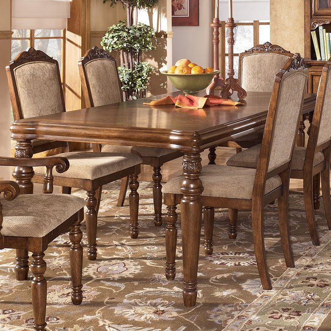 San Martin Rectangular Extension Dining Table Signature Design by