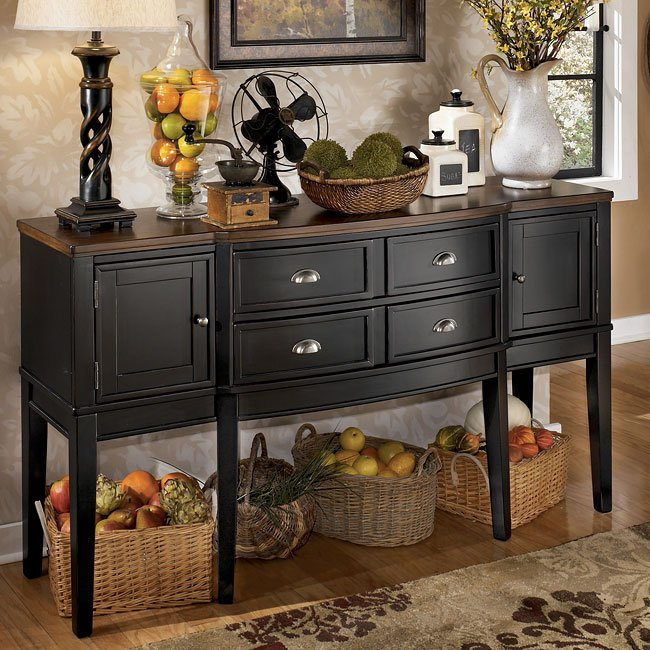Decorating A Dining Room Buffet: Owingsville Server Signature Design By Ashley Furniture