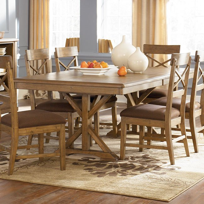 Danbury Heights Rectangular Extension Table Signature Design By Ashley Furniture Furniturepick