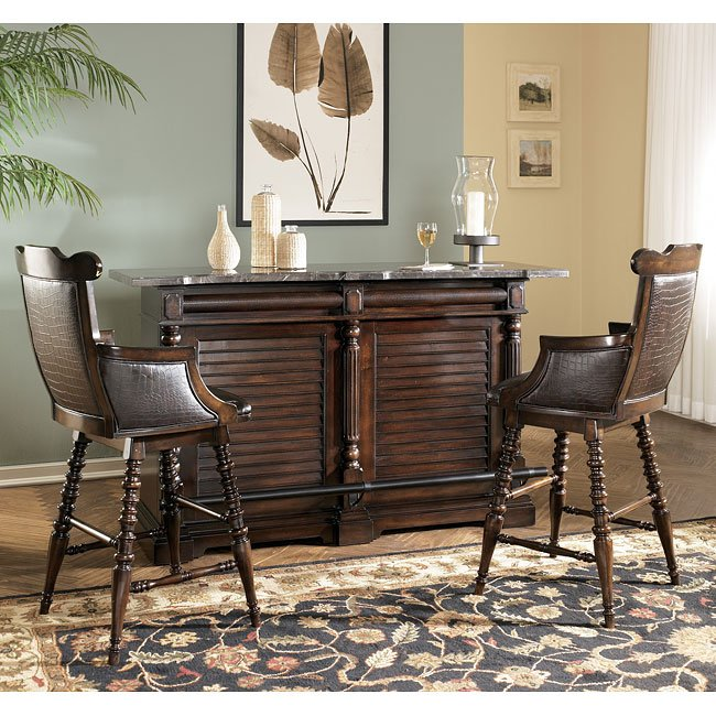 Key town home bar set signature design by ashley furniture furniturepick for Ashley furniture key town bedroom set