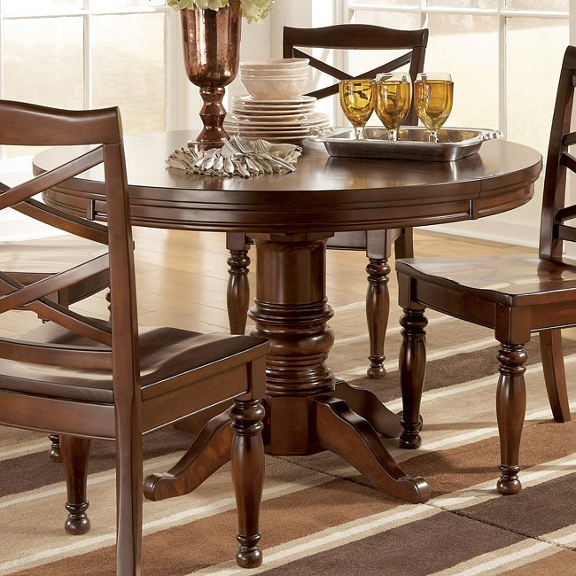 Porter Round Coffee Table: Porter Round/ Oval Dining Table Signature Design By Ashley
