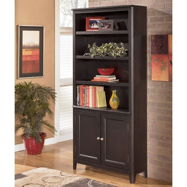 Carlyle Large Door Bookcase Signature Design By Ashley