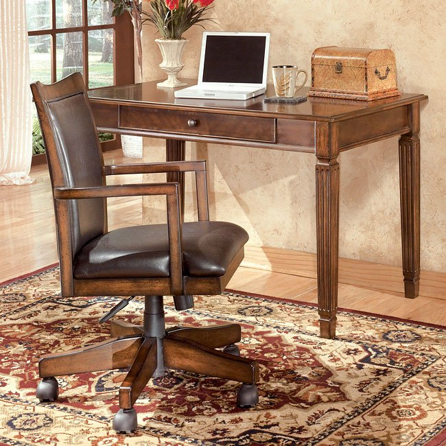 Hamlyn Home Office Set With Leg Desk Signature Design By