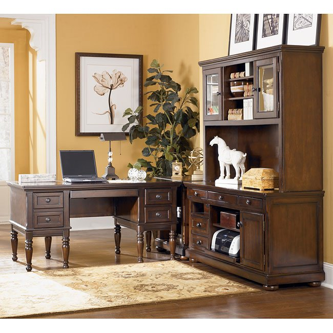 Ashley Furniture Serial Number Lookup Model Search Office: Porter Storage Desk Home Office Set W/ Credenza Signature