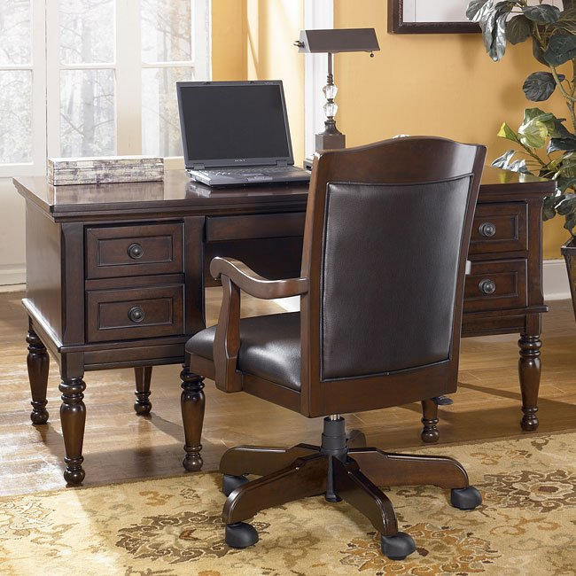 Porter home office set with storage desk signature design for Furniture xchange new jersey