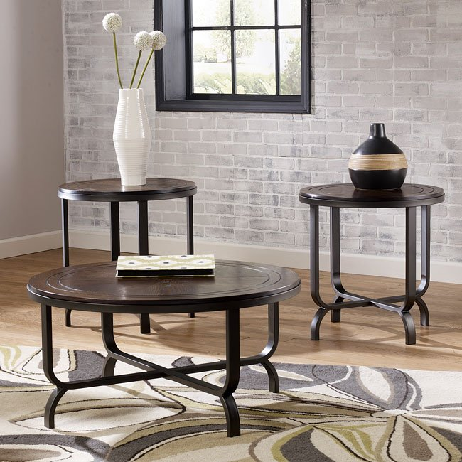 T049 13 Ashley Furniture Banilee Living Room Occasional: Ferlin 3-Piece Occasional Table Set Signature Design By