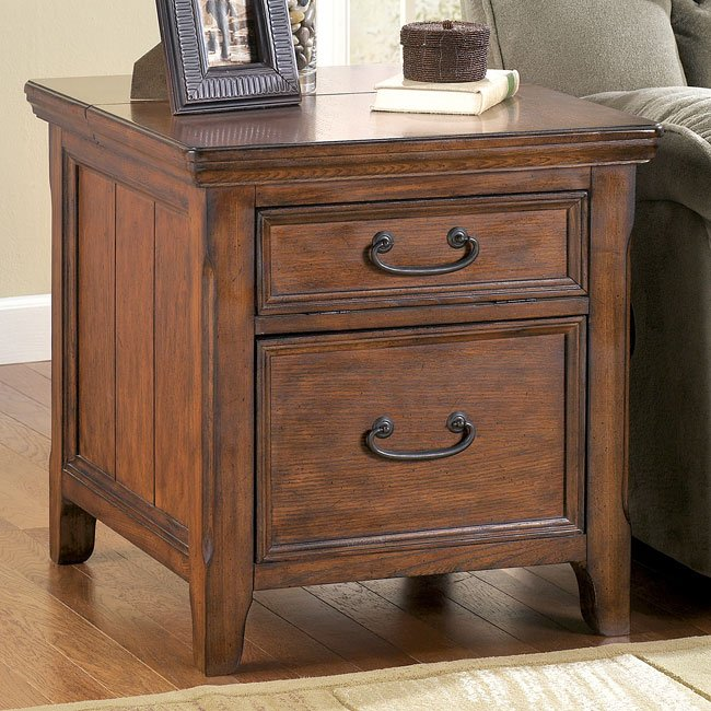 Ashley Furniture Woodboro End Table 650 x 650