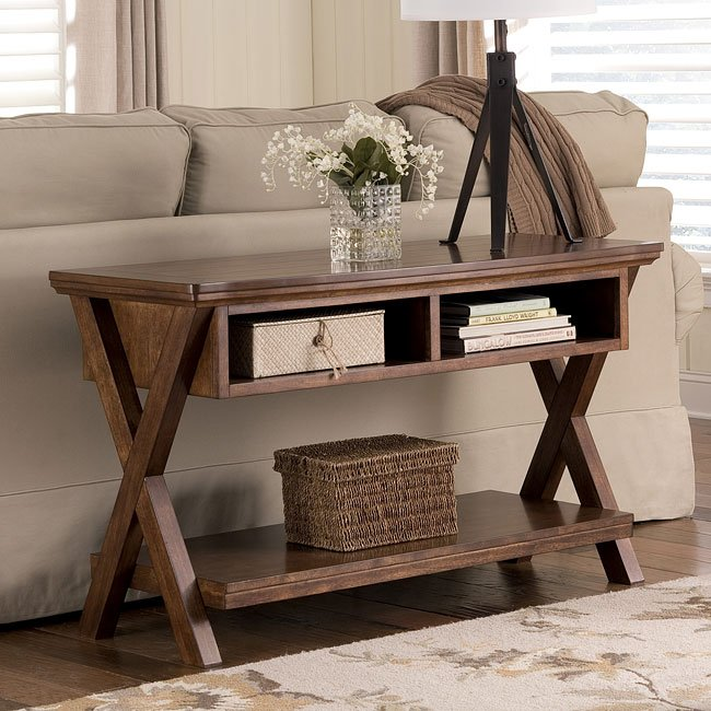 Burkesville Console Sofa Table Signature Design by Ashley Furniture FurniturePick
