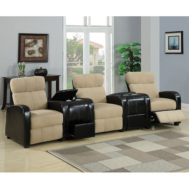 bogart 5 piece home theater sectional world imports furniturepick. Black Bedroom Furniture Sets. Home Design Ideas